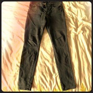 Express gray jeggings (jean leggings)